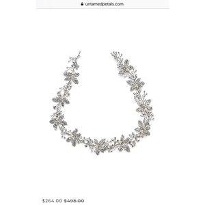Untamed Petals 'Forest' bridal headpiece